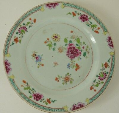 Chinese export famille rose plate - Qianlong - mid C18th