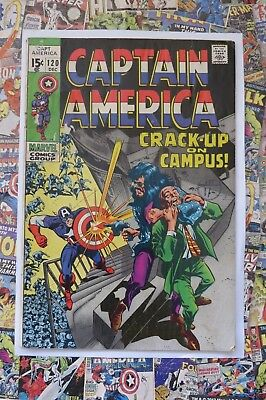Captain America #120 - Dec 1969 - Nick Fury Appearance! - Vg (4.0) Cents