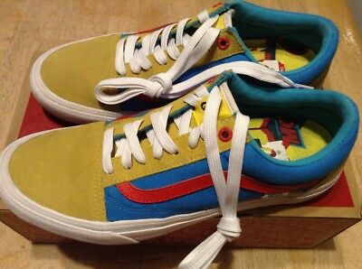 8a1d1bc8ecd0ac VANS GOLF WANG Yellow Blue Red Old Skool Pro Odd Future ~ Size 10 ...