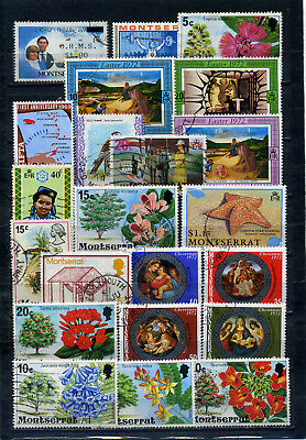nice lot MONTSERRAT, most postally used, some CTO