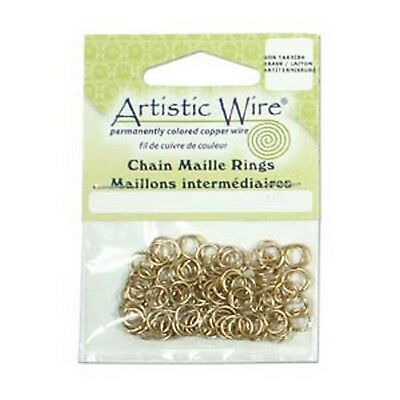 Antique Gold Artistic Wire Chain Maille Rings 18 Gauge 3.57mm 110 Piece G52//16