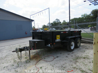 2013 Brimar DT610-10 Tandem Axle Steel Electric/Hydraulic Dump Trailer w Ramps