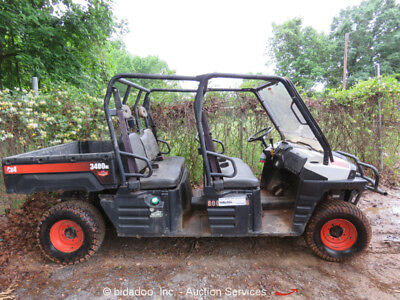 2014 Bobcat 3400XL 4WD 4wd Utility Cart ATV UTV 4 Person Seating Dump Bed Repair