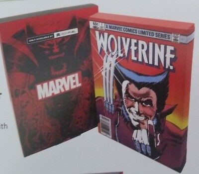 """WOLVERINE #1 COMIC COVER CANVAS ART  Wood Frame  9"""" x 5"""" Geek Fuel Exp VOL 1 NEW"""