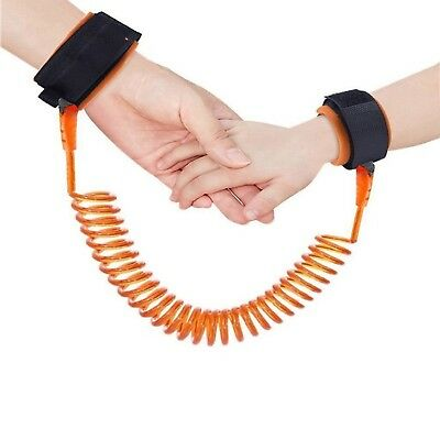 Anti Lost Wrist Orange Link Safety Soft Leash Wristband For Toddlers Babies Kids