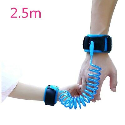 Safety Wrist Bands Anti Lost Blue Link-Wrist Leash For Toddlers Babies Kids