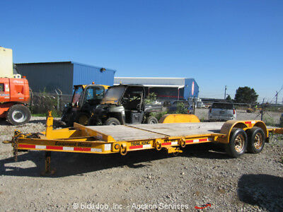 "2012 Trailking TKT10U Tilt Bed 20"" Equipment Trailer 10,000 lb bidadoo"