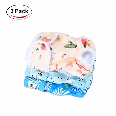LUXJA Reusable Female Dog Diapers (Pack of 3), Washable Wraps for Female Dog