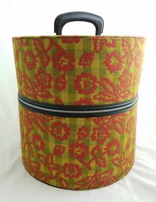 Vintage Femina Tote by Munro Wig Hat Carrying Case Tapestry Travel Airline