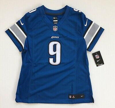 Hot WOMEN'S LARGE MATTHEW Stafford Detroit Lions Nike Blue Limited