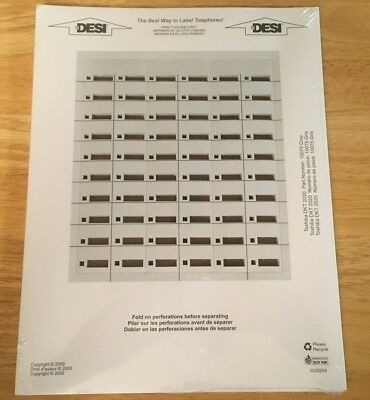 *NEW* Toshiba DKT 2020 DESI Telephone Labels 20-Button 90 Labels