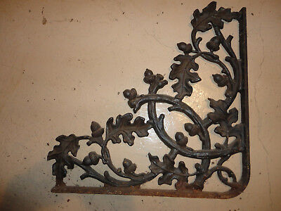 LARGE Cast Iron Antique Oak Leaf & Acorn Bracket Garden Braces Shelf Bracket