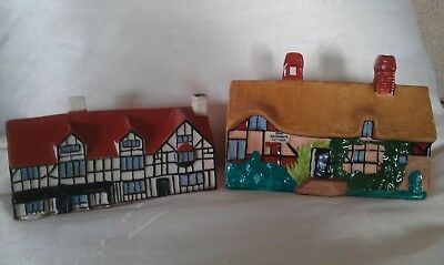 ANTIQUE W H GOSS  models of Ann Hathaway's cottage  & Shakespeare's house