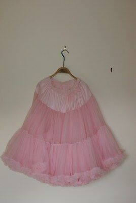 Pink Frilly Petticoat./Jupon 50's style Free size