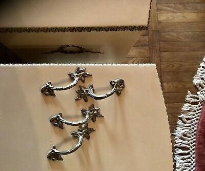 Original Olympus french style 4 pull handles for furniture exllnt antique cond
