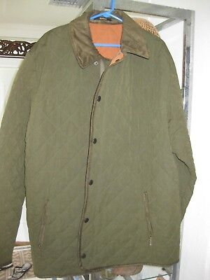 Barbour quilt XXL men's  green  quilted jacket size XXL