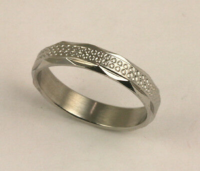 Men Women 316L Stainless Steel Unique Design Ring 5mm Band Size 11 NEW SS136