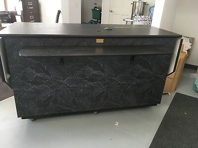Self Contained Coffee Cart with refrigerator.