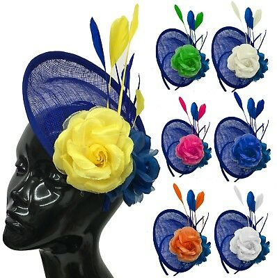 Disc Saucer Sinamay Fascinator on Headband Wedding Royal Ascot Races Hatinator