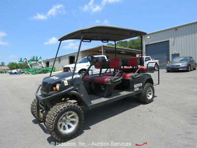 2012 EZ-GO Express L6 Gas Golf Cart Utility Vehicle UTV ATV Seats 6 Passenger