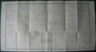 1774 - COOK - Large map SOUTH PACIFIC OCEAN  Australia  New Zealand