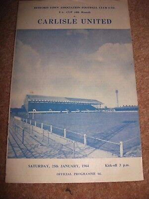 Bedford town Carlisle FA Cup 4th round  programme  January 1964