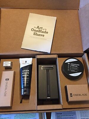 New in Box OneBlade Core Black Tie Shave Kit Single Blade Razor Shaver $129