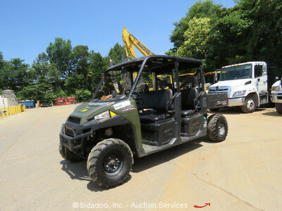 2014 Polaris Ranger Crew 4WD Diesel Utility Vehicle Cart UTV ATV Dump Bed 2 Seat
