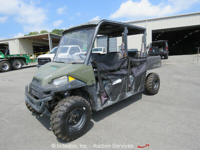 2015 Polaris Ranger 4WD Crew Utility Vehicle Cart UTV ATV RTV Dump Bed Seats 6