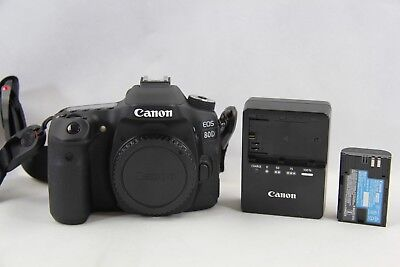 Canon EOS 80D Digital SLR Camera Body w/ Battery & Charger Very good Condition