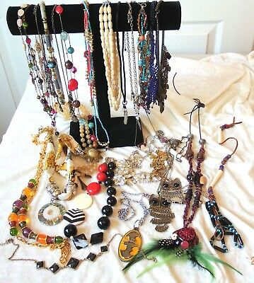 Mixed Up? Vintage Lot Of Misc. Costume Jewelry Necklaces - Wear/Repair