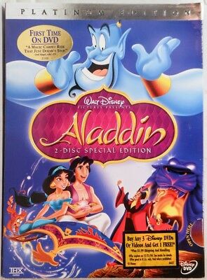 NEW Disney's Aladdin (DVD, 2004, 2-Disc Set, Platinum Edition*)