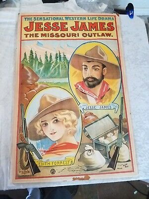 Jesse James Edith Forrest  Missouri Outlaw Poster Sensational Western Life Drama
