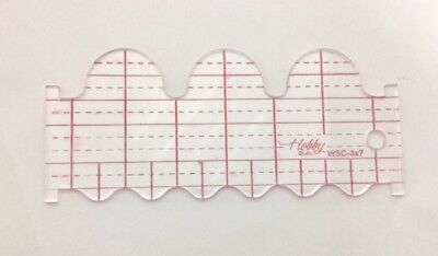 Quilting Ruler Template (Wave & Scallop)  WSC-3X7-3  3mm
