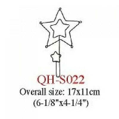 Wire Single Hook Set (Star in Star)   4X     #S022