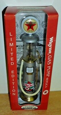 NIB-Wayne Gas Pump DIE CAST metal~Gearbox Collectible ~Texaco Sky Chief Lim Ed.