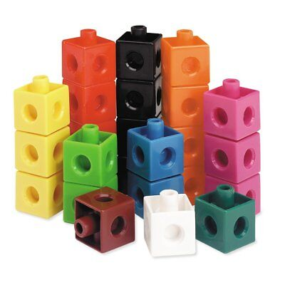 Pack of 100 Snap Cubes Unifix Counting Interlocking Learning Resources