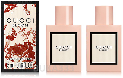 9a8acbc70 2 x GUCCI BLOOM Eau De Parfum EDP Mini Splash bottles, 0.16 FL OZ each