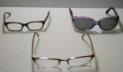 Authentic Ray-Ban Eyeglass Frames, Lot of 3, Vintage, Parts/Resell Opportunity