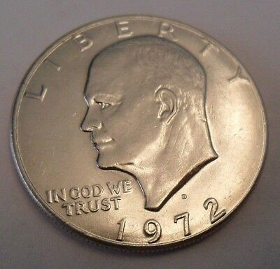 1972 D Eisenhower Dollar Coin (Ike)   **FREE SHIPPING**