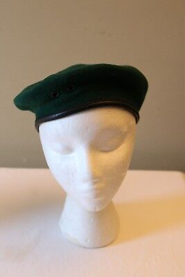 Vintage Boy Scouts Of Canada Green Official Beret Size 6 7/8 Hat