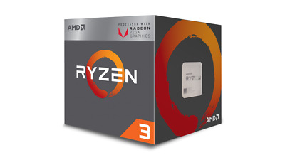 AMD RYZEN 3 2200G 3.5Ghz 4 Core (3.7 GHz Turbo) 65W GAMING CPU & Cooler [F93]
