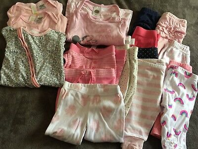 Mixed Lot Of Baby Girl Autumn/winter Clothes 18 Items Size 000