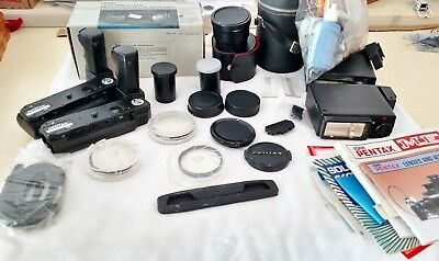 Vintage Camera Accessory Lot 20 Pieces-  Filters, Winders etc  Kalimar, Pentax