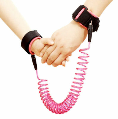 Pink Safety Leash Anti Lost Wrist Strap Baby Kid Walk Child Toddler Link Harness