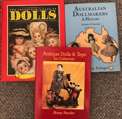 3 X Collecting Dolls, Collectors Guide, Australian Dollmakers History Signed