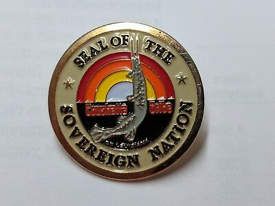 Seal of The Sovereign Nation Coushatta Tribe of Louisiana Metal Pin