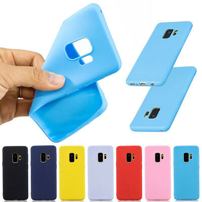 For Samsung Galaxy A8 A6 2018 S9 S10 S10e Plus Gel Silicone Case TPU Back Cover