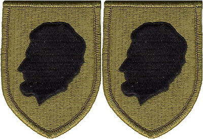 2 Pack Illinois Army National Guard OCP Scorpion Hook Back Military Patches