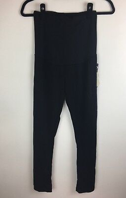 bella vida maternity black leggings size small full panel stretch